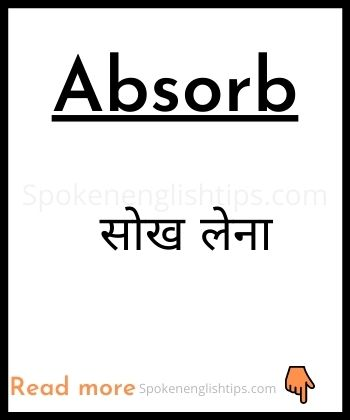 absorb meaning in hindi