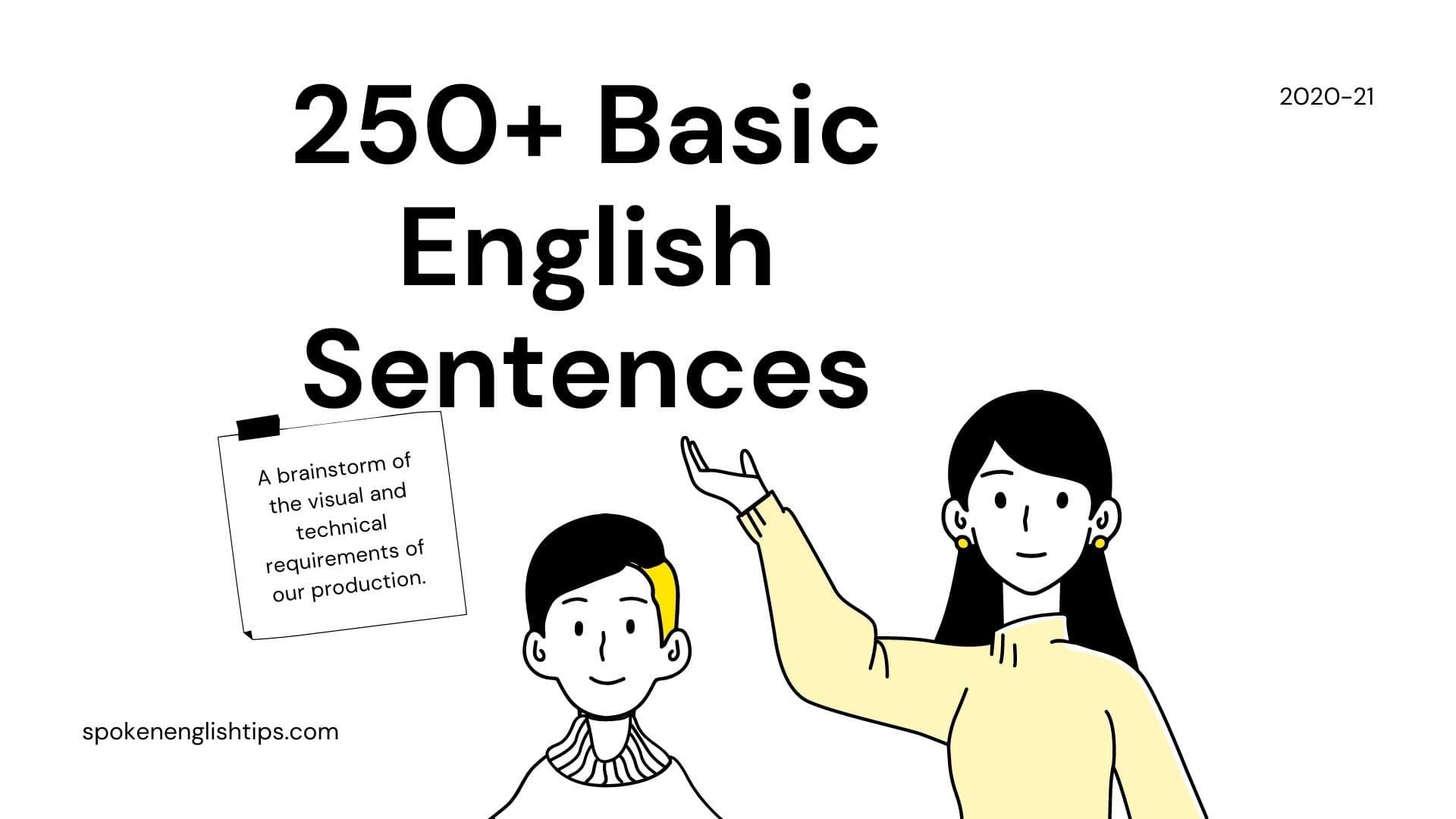 Basic Use Of English Sentences