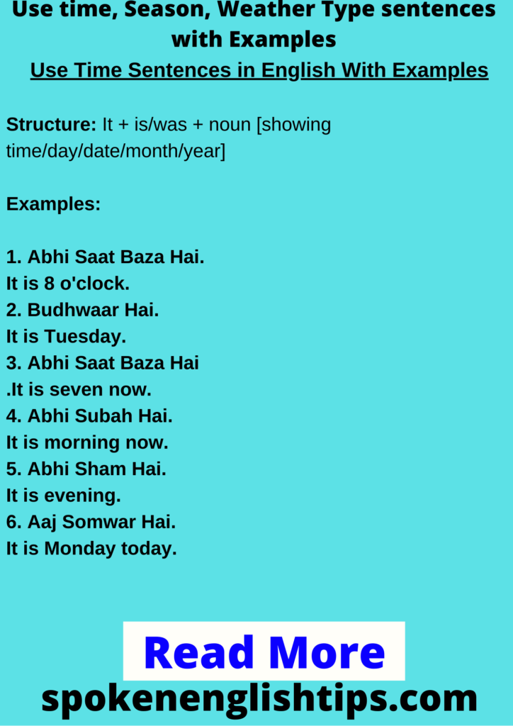 sentences with examples